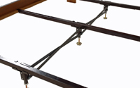 center support for wooden side rails
