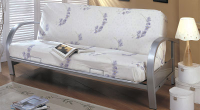 Heavy Duty Metal Futon Frame With Wide Arched Armrest