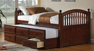 trundle and drawer captains bed