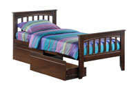 saspharilla bed with drawers